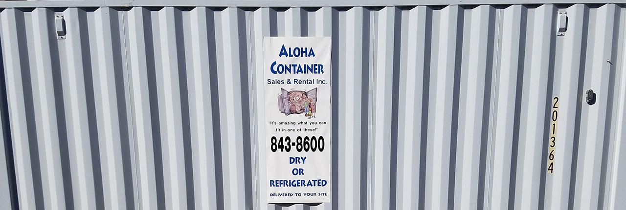 Aloha Container dry or refrigerated container rentals