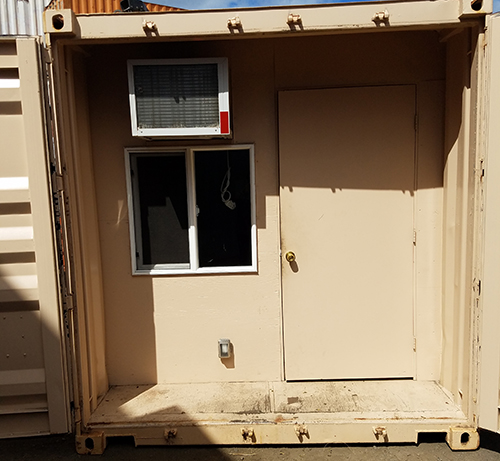 Aloha Container remote job site office exterior